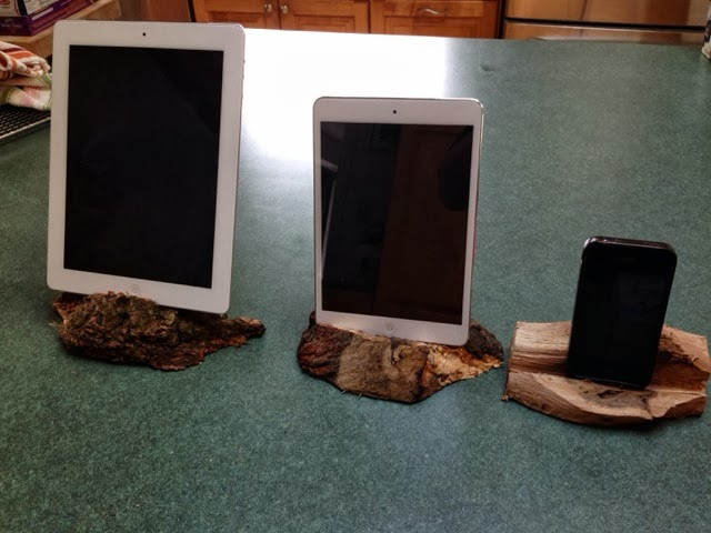Chainsaw iPad stands