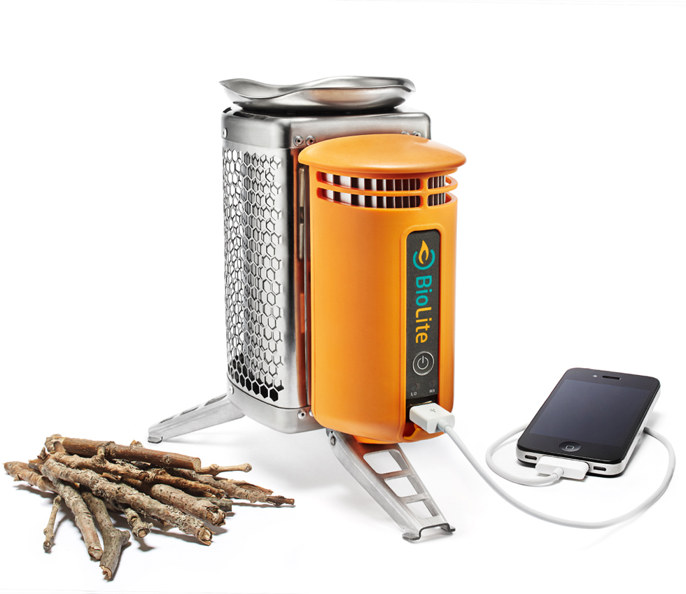 BioLite stove for camping or outdoor cooking