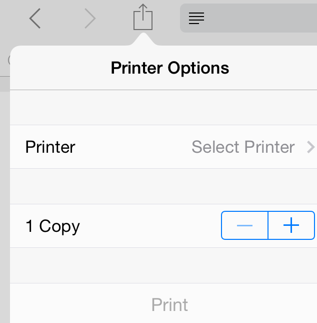 Print at home from an iPad or iPhone