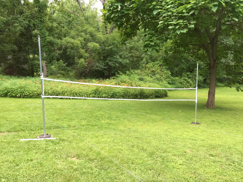 DIY badminton and volleyball poles