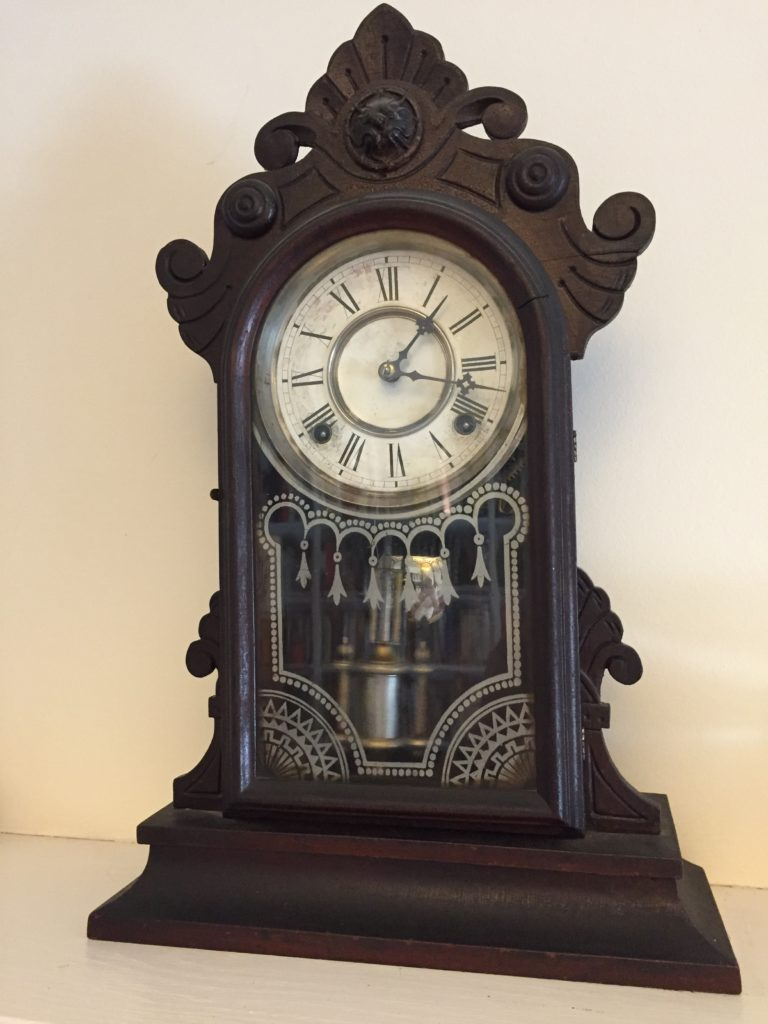 Wm. L. Gilbert parlor clock dated 1881
